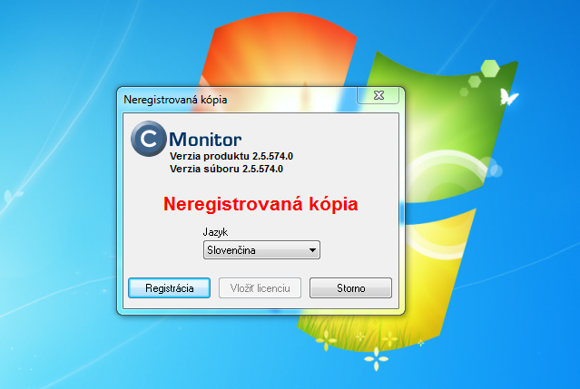 Registration of C-Monitor client
