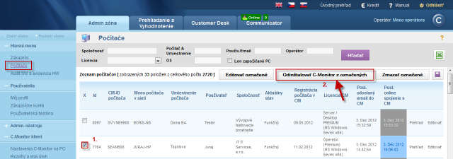 C-Monitor windows client uninstallation through CM portal