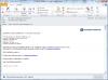 Email upozorňující na výpadek online spojení